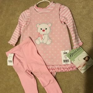 Baby Girls Bonnie Jean 3pc outfit